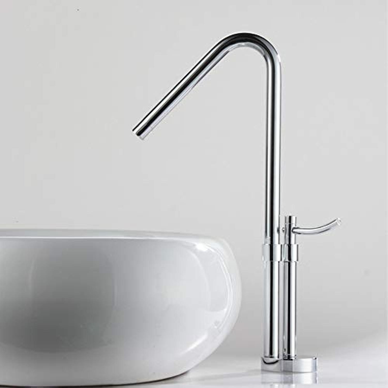 Lddpl Wasserhahn Moderner Badezimmer-Hahn, Messingchrom-Polnischer Einzelner Handgriff-Wasserbad-Bassin-Mischer-Hahn,