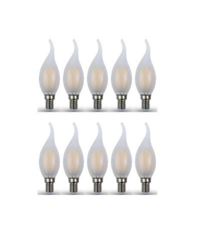 Bot Lighting Shot LED-lampen, vlammenglas, 4,5 W, E14, 2700 K, 10 stuks