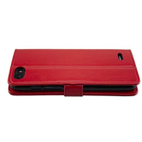 caseroxx Handy Hülle Tasche kompatibel mit Archos Core 57s Bookstyle-Hülle Wallet Hülle in rot
