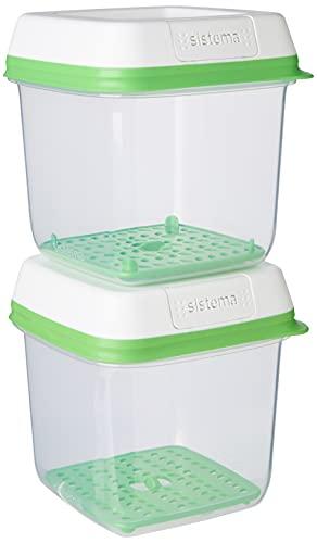 Sistema FreshWorks Medium Square Storage Container 1.5 L - 2 Pack