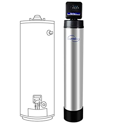 iSpring WF150K Whole House Central Water Filtration System with Smart Control Valve, 10-Year, Chrome from iSpring Water Systems