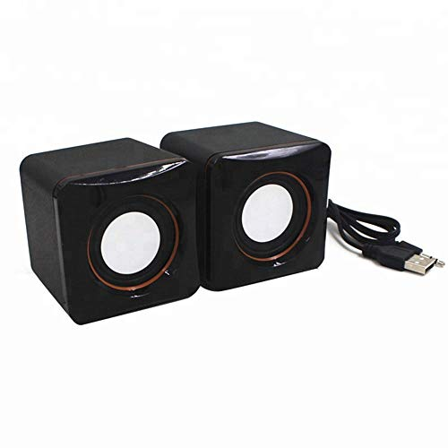 Nuoke Cube-Lautsprechersystem, Subwoofer USB-Mini-Lautsprecher, Geeignet Für Laptops, Smartphones, Spiele PSP, MP3MP4 Und MP5, Usw. (2 Stück)