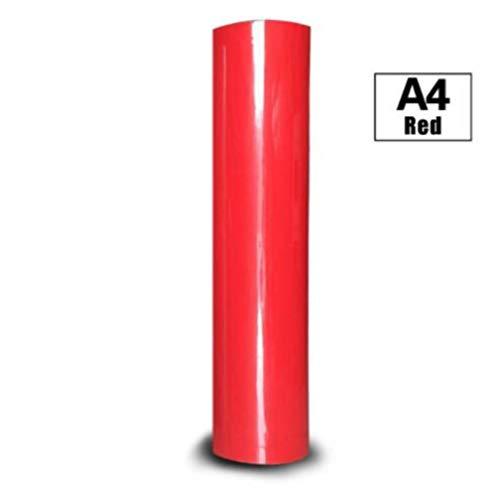 30 cm * 100 cm PVC warmteoverdracht vinylfilm T-shirt Opstrijkbaar HTV Afdrukken van aantal patronen voor sportkleding Woondecoratie, rood