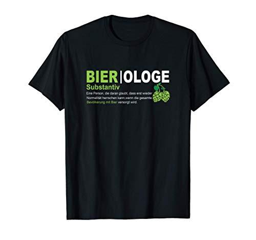 Bier Bierliebhaber Lustige Bier|ologe Hopfen Party Pils T-Shirt