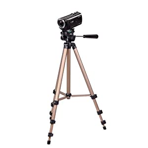 DURAGADGET Premium Quality Camcorder Tripod with Extendable Legs and Ball-Tilt Head in Black & Gold - Compatible with Sony HDR-PJ620 | HDR-PJ410 | HDR-CX405 Handycam Camcorder