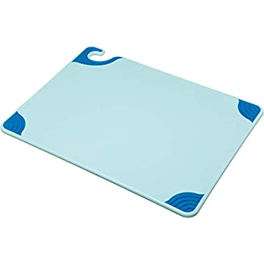 San Jamar CBG152012BL Saf-T-Grip Cutting Board, 15  x 20 , Co-Polymer, Blue, NSF