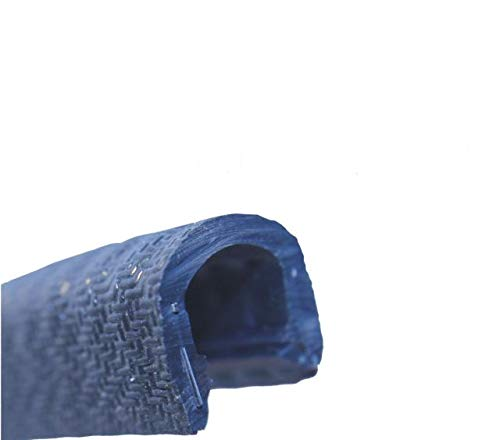 eutras Protector de bordes 1213ks1251R22711102Perfil refuerzo–Rango 8–10mm 10m, Negro