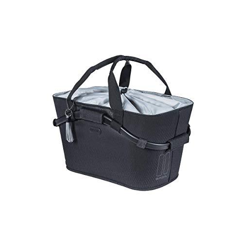 Basil Damska torba na kierownicę 2179230630 torba na kierownicę, Midnight Black, 22 L
