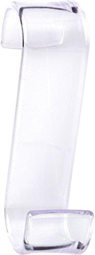 Gedy 20250000900 Percha de Radiador, Transparente, 6.7x3.2x11.7 cm