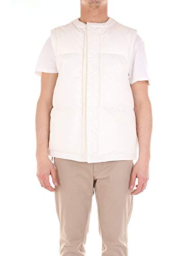 Luxury Fashion | Jil Sander Heren JSUN440426MN244900BIANCO Wit Polyester Gilets | Seizoen Outlet