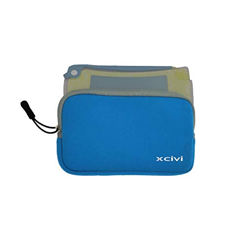 Xcivi Neoprene Sleeve Case for Boogie Board Jot 4.5 eWriter, Jot Pocket and Clear View Tracing Board (Blue)