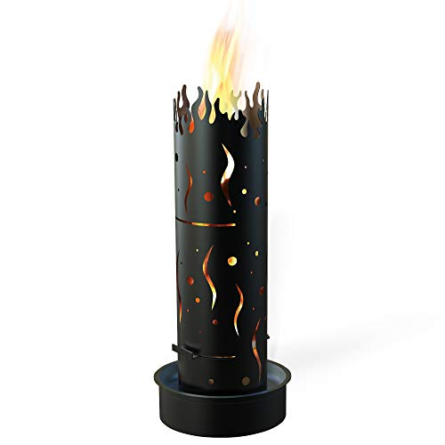 TE Feuersäule Koralle, schwarz grundiert