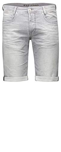 MAC Jeans Herren Jog'N Bermuda Shorts, Grau (Authentic Light Grey Used H825), W33