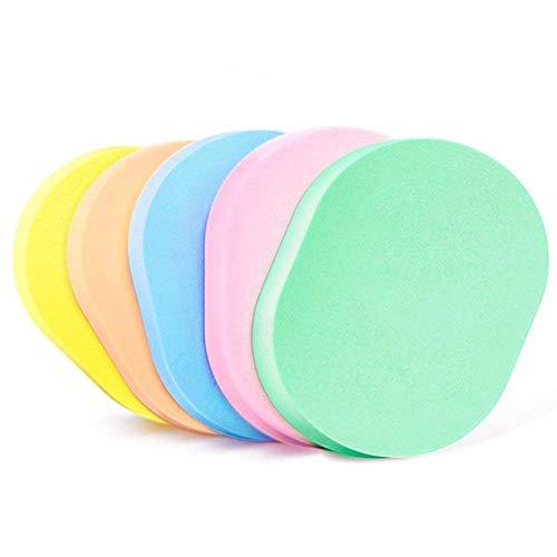 Lot de 50 éponges colorées pour le visage de nettoyage comprimé 10 x 8,5 x 0,5 cm