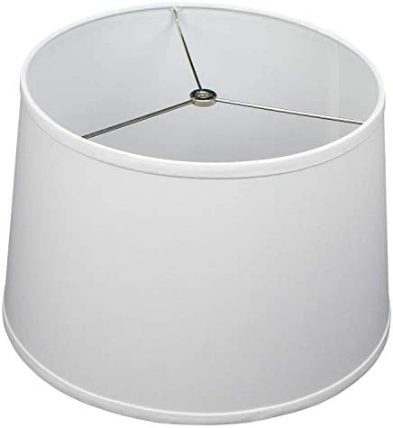 FenchelShades com 13 Top Diameter x 15 Bottom Diameter x 10 Height Fabric Drum Lampshade Spider product image