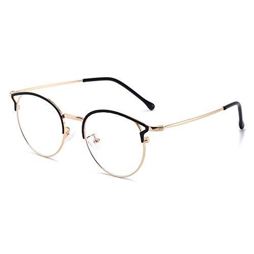 Blaulichtfilter Brille Anti Blaulicht Brille Katzenauge Computerbrille Ohne Sehstärke Metallgestell Brille Blockieren Blaulicht Pc Gaming Brille Damen Schwarz Gold Rahmen