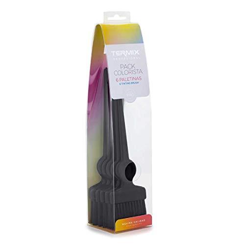TERMIX Coloration Pinceaux Poils Noirs Souples - Pack de 6