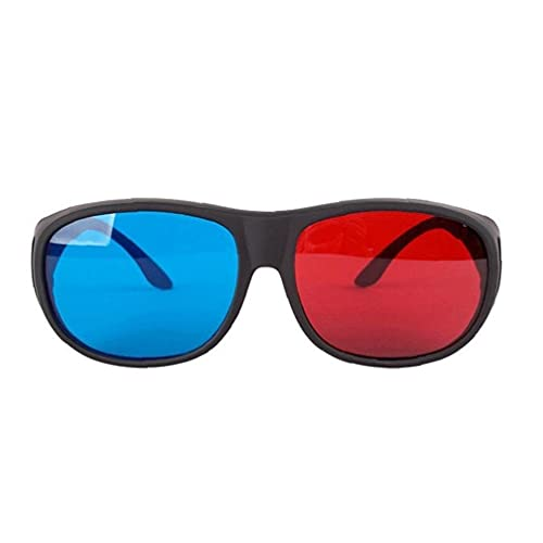 Red-Blue 3D Glasses Cyan Anaglyph Simple Style 3D Glasses Stereo Movie Game-Extra Upgrade Style for Men &Women