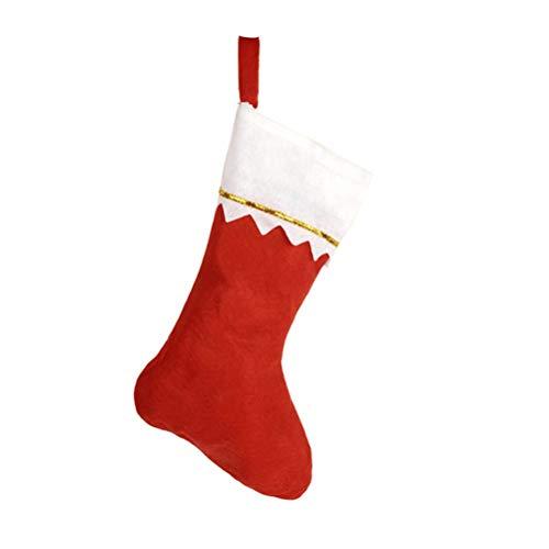 VORCOOL Calza Natalizia Rossa Sacchetto di Caramelle Natalizie Decorazione Albero di Natale Addobbi Natalizi - 24 Pezzi