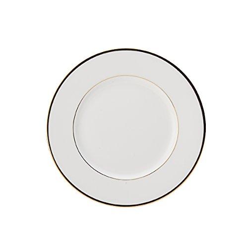 Mikasa Kuchenteller, Salatteller Cameo Gold D. 22cm Weiß mit goldrand Creative Tops