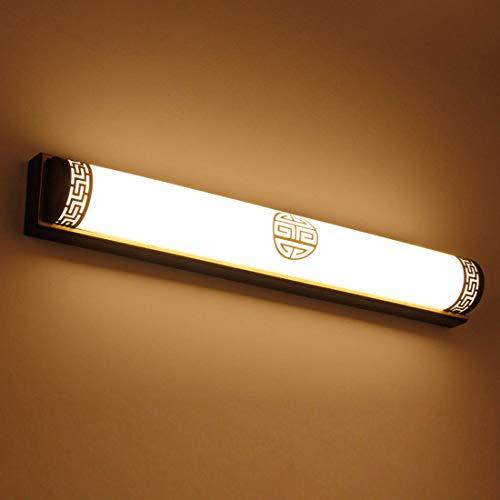 Hlele wandlampen, binnen, LED-lamp, 24 W, waterdicht, moderne wandlamp, van metaal, slaapkamer, huis, hal, woonkamer, (warmwit) 63 x 9 cm