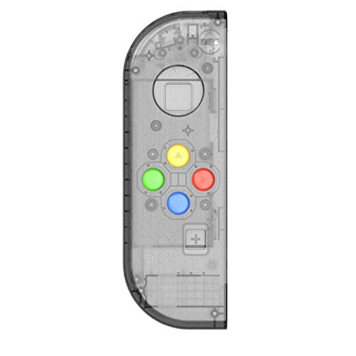Tragbare DIY Ersatz Gehäuse Shell Case für Nintendo Switch, für rechts links Schalter Joy-Con Controller, Left Smoke Black Joy-Con(Left Only)