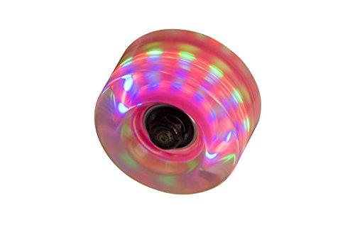 SFR - Set de ruedas para patines con luces (4 unidades) transparente transparente