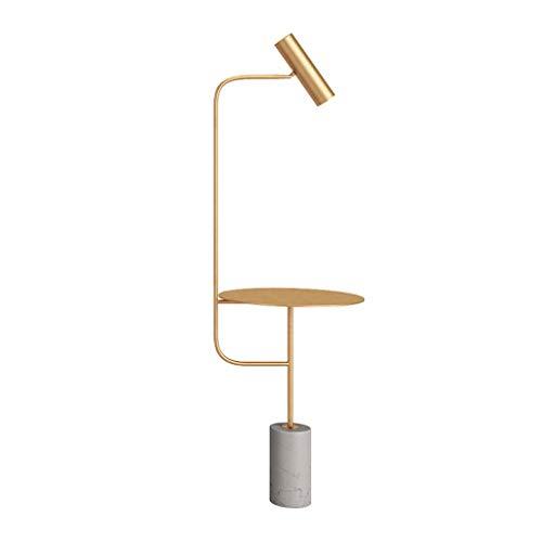 TangMengYun Lampadaire nordique lampe de table verticale en fer forgé table basse plateau en marbre salon chambre lit moderne lumières LED (Color : Metallic-150cm)