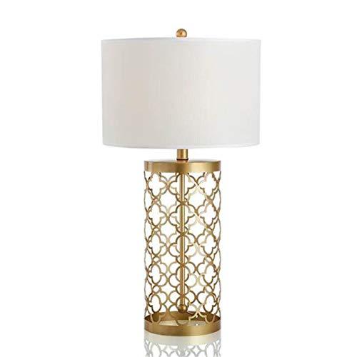 Lámpara de mesita de noche de hierro forjado dorado minimalista Lámpara de noche de dormitorio de sala de estar de arte creativo de lujo Retro