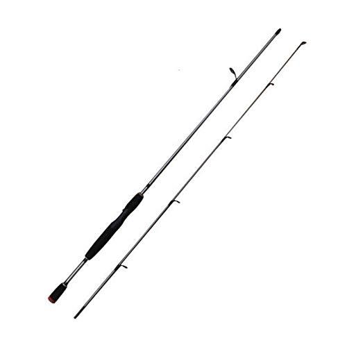 Poste De Mano Retráctil Ca?a De Pescar Giratoria De Acero De Vidrio De Ca?a De Pescar De 2 Segmentos De 1,8 M 2,1 M para Arroyo, Lago Y Río (Size:1.8M; Color:Spinning Rod)