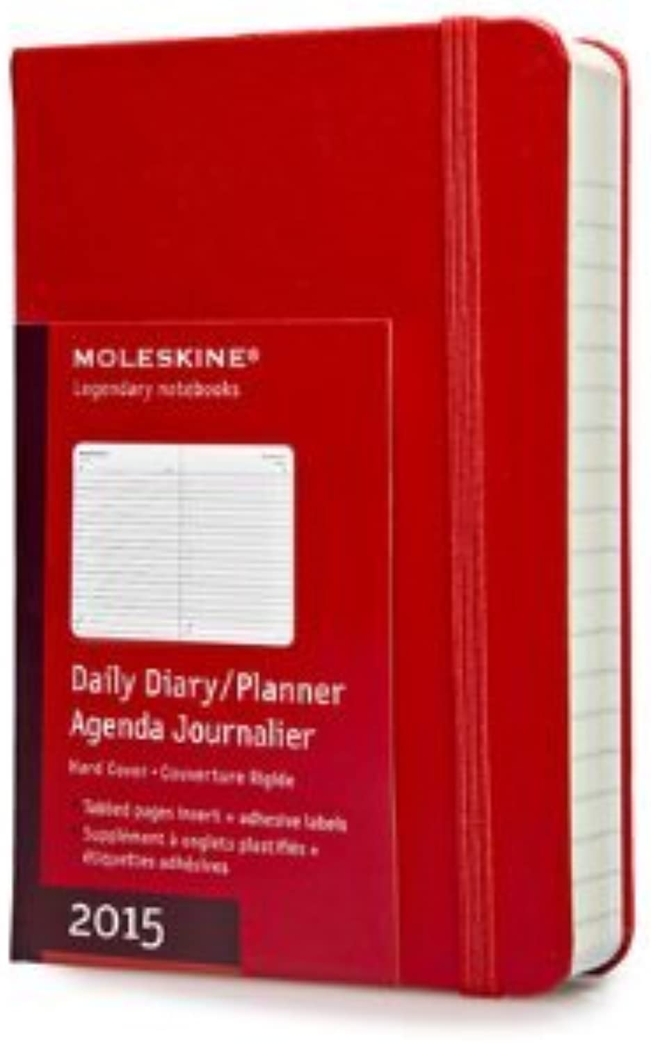 Moleskine 2015 Daily Planner, 12 Month, Pocket, rot, Hard Cover (3.5 x 5.5) (Moleskine Diaries) by Moleskine(2014-05-20) B00PJPEARK | Sale