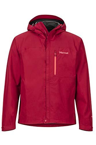 Marmot Minimalist Jacket Chubasqueros, Chaqueta Impermeable, a Prueba de Viento, Impermeable, Transpirable, Hombre, Sienna Red, M