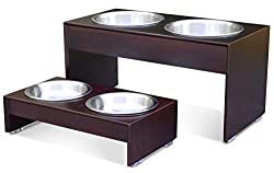 PetFusion Elevated Dog Bowls Bamboo feeder