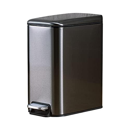 JANCANT 5L Cubo de Basura de Reiclage Papelera Inoxidable Cocina Oficina con...