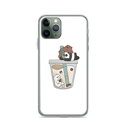 Phone Case We Bare Bears Boba Compatible with iPhone 12/12 Pro Max Mini 6 6s 7 8 X XS XR 11 Pro Max SE 2020 Scratch Shock Charm