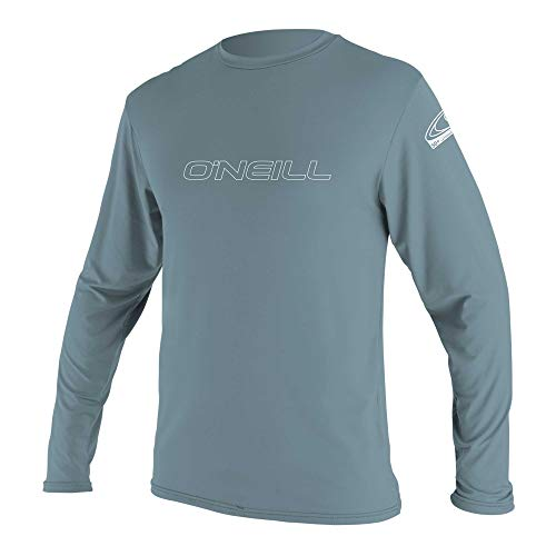 O'Neill Wetsuits Men's Basic Skins UPF 50+ Long Sleeve Sun Shirt, Dusty Blue, X-Large