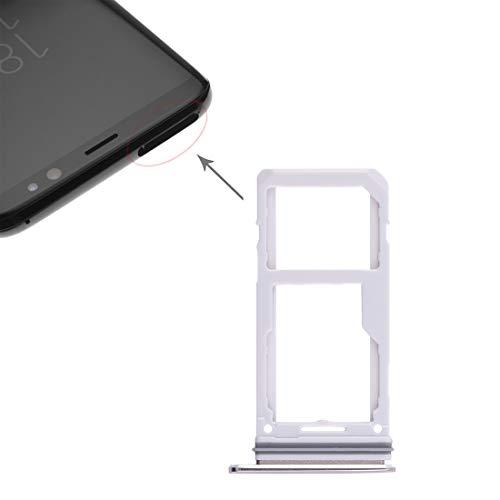 jingtingmy Fijar Las Piezas del teléfono renovar 2 Bandeja de Tarjeta SD/Micro Bandeja de Tarjeta SIM for Galaxy S8 / S8 + Accesorios (Size : Spa0451j)
