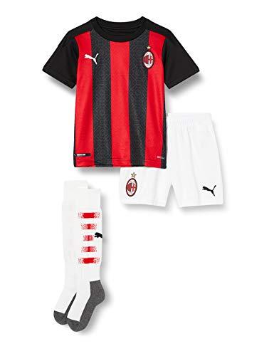 PUMA Stagione 20/21 AC Milan Home Mini-Kit, Maglia Bambini, Tango Red Black, 116