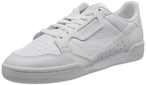 Adidas Continental 80, Zapatillas de Deporte para Hombre, Blanco (Ftwbla/Ftwbla/Griuno 000), 38 2/3 EU