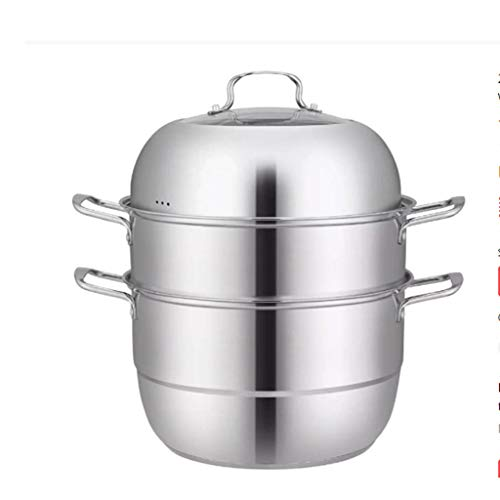MHTCJ 28 cm Acero Inoxidable 3-Nivel/Capa Cocina de Vapor Olla, Cocinero de Alimentos Doble Caldera...