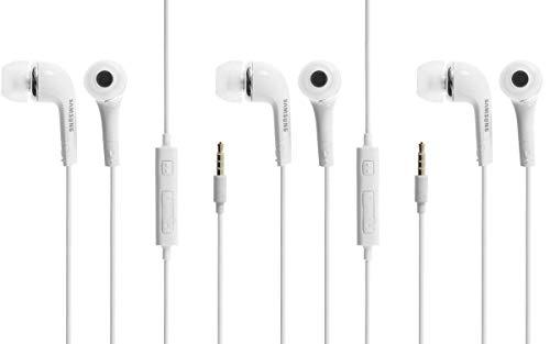 Original Samsung Kopfhörer 3-er Set, Kopfhörer In-Ear Headset mit Anrufannahme-Taste und Lautstärke-Regler satte Bässe Stereo Sound EHS64AVFWE Bulk