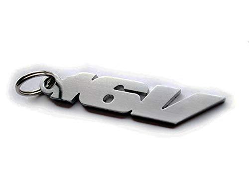 16 V emblème porte-clés en acier inoxydable
