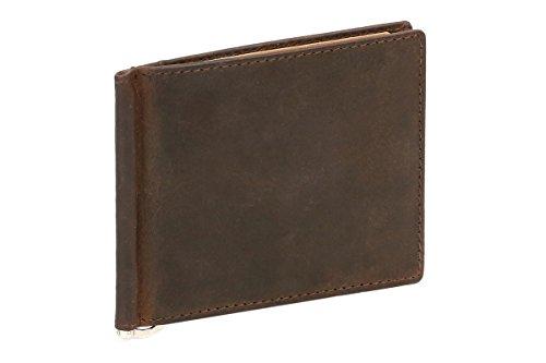 LEAS Cartera con clip para billetes Pinza para billetes Vintage-Style, Piel auténtica,...