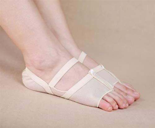 NO BRAND Calcetines Yoga Antideslizante Zapatillas de Deporte de Las Mujeres del Dedo del pie Calcetines Vendaje Punta Abierta de Yoga algodón de Las Mujeres Calcetines Comfortable