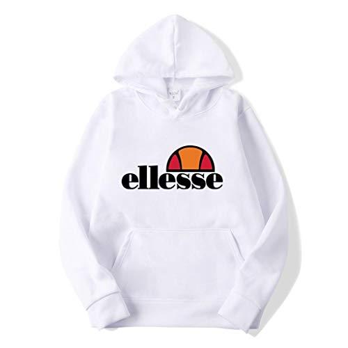 Herren Hoodie Kapuzenpullover Hoodie Sweatshirt Pullover Mit Kapuze Sweatshirt,Weiß,M