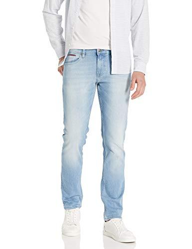 Tommy Hilfiger Men's Original Scanton Slim Fit Jeans, Berry Light Blue, 28X30