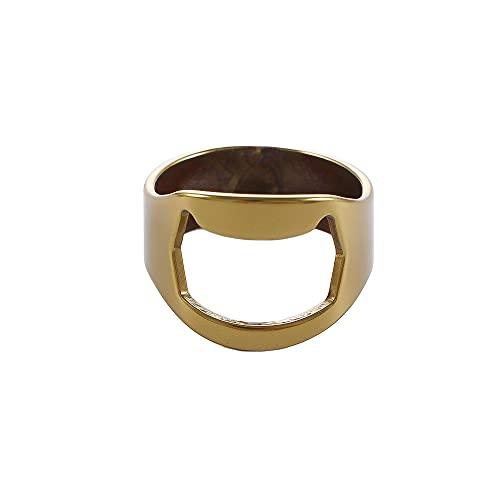 Mini anillo Accesorios para el hogar de acero inoxidable Remover Cap Apertura de botellas de cerveza Gadgets de cocina Bar Herramientas de abridor de vino (oro)