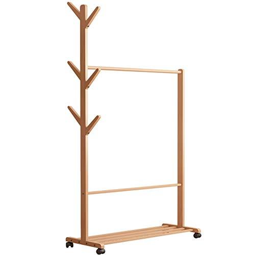 YLCJ Multifunctionele houten kleerhanger en kleerhanger, eenvoudige waterdichte kleerhanger montage hanger hoed rek hanger kleerrek slaapkamer woonkamer kantoorkast-C L80cmxL38cmxH176cm