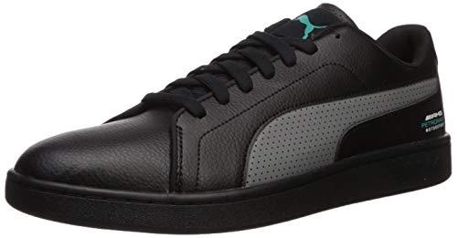 PUMA Mercedes Smash Sneaker, Negro (Puma Blacksmoked Pearl-spectra Verde), 38.5 EU