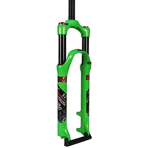 Fietsvork 26 27.5 29 inch ultralichte schoudercontrole aluminium legering mechanisch mountainbike vork fiets schijfrem veerweg: 100 mm